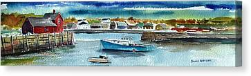 Scott Nelson Canvas Print - Rockport Harbor by Scott Nelson