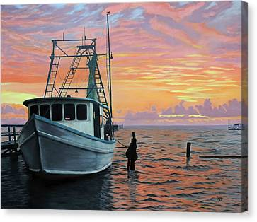 Rockport Sunrise Canvas Print by Jimmie Bartlett