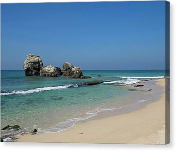 Rocks Along Beach, A2 Road, North Canvas Print by Panoramic Images