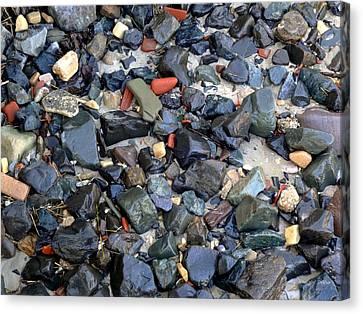 Rocks And Stones Canvas Print by Deborah  Crew-Johnson