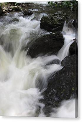Canvas Print featuring the photograph Rocks At Bushkill by Richard Reeve