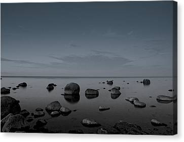 Rocks At Midnight Canvas Print