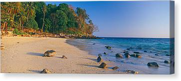 Rocks On The Beach, Phi Phi Islands Canvas Print by Panoramic Images