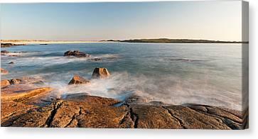 Rocks On The Coast, Dogs Bay Canvas Print