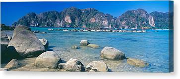 Rocks On The Coast, Phi Phi Islands Canvas Print by Panoramic Images