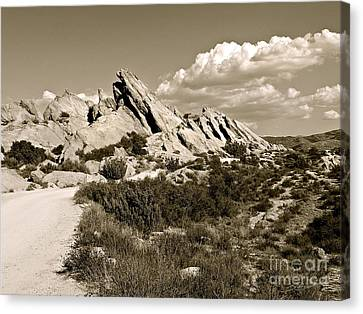 Rocks On Warm Wind Canvas Print by Gem S Visionary