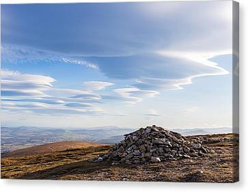 Rocks Piled Up On Djouce Mountain Summit Canvas Print by Semmick Photo