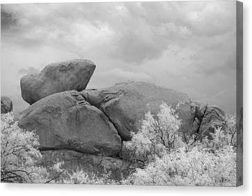Rocks Under Ir Sky Canvas Print