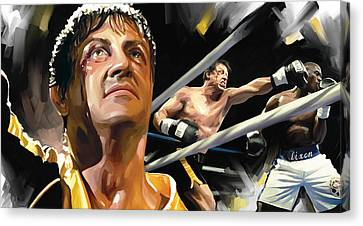 Sylvester Stallone Canvas Print - Rocky Artwork 1 by Sheraz A