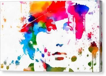 Rocky Balboa Paint Splatter Canvas Print