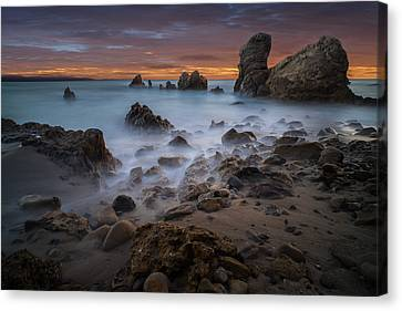 Rocky California Beach Canvas Print by Larry Marshall