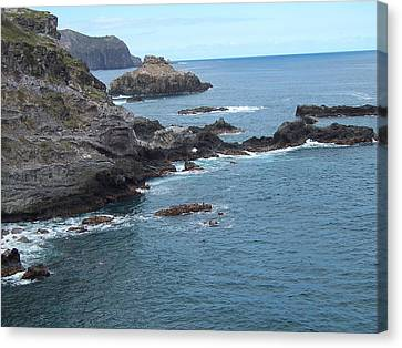 Canvas Print featuring the photograph Rocky Coastline by Sheila Byers