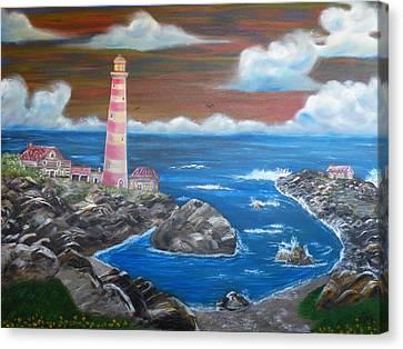 Rocky Cove Canvas Print