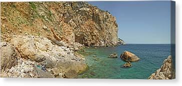 Rocky Cove In Lestartit, Costa Brava Canvas Print