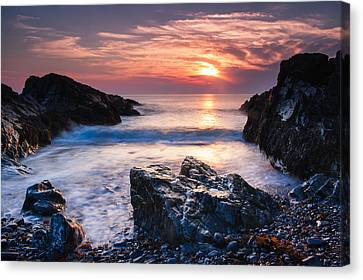 Rocky Cove Canvas Print by Michael Blanchette