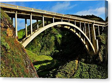Rocky Creek Bridge Canvas Print by Benjamin Yeager