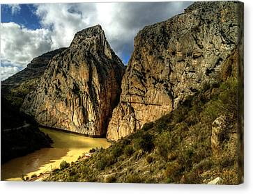 Canvas Print featuring the photograph Rocky El Chorro In Andalusia by Julis Simo