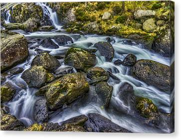 Rocky Ice Water Canvas Print by Ian Mitchell