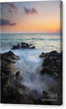 Rocky Inlet Sunset Canvas Print by Mike  Dawson
