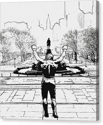 Rocky Is Philadelphia Canvas Print by Bill Cannon