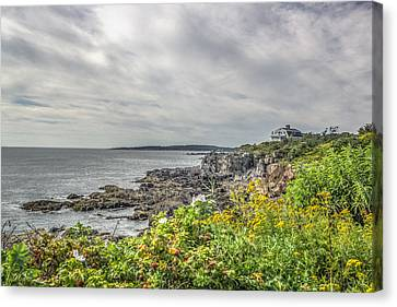 Canvas Print featuring the photograph Rocky Maine Shoreline by Jane Luxton
