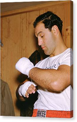 Rocky Marciano Getting Ready Canvas Print by Retro Images Archive
