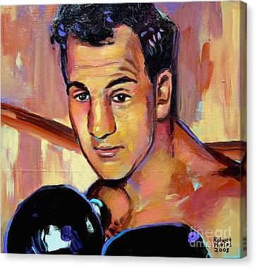 Canvas Print featuring the painting Rocky Marciano by Robert Phelps