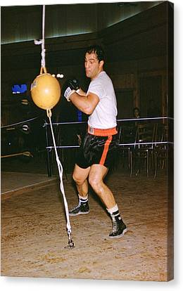 Rocky Marciano Training Canvas Print by Retro Images Archive