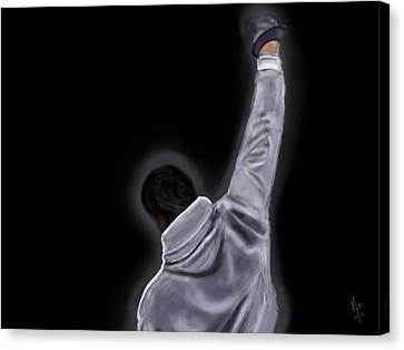 Boxe Canvas Print - Rocky by Mathieu Lalonde