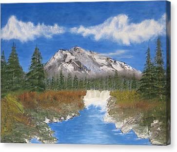 Rocky Mountain Creek Canvas Print by Tim Townsend