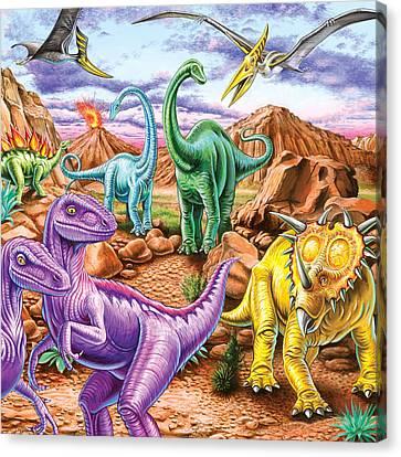 Rocky Mountain Dinos Canvas Print