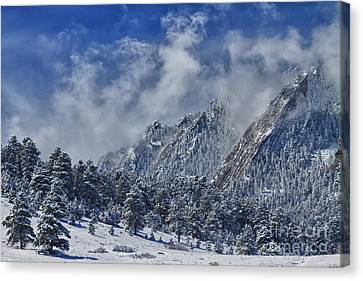 Rocky Mountain Dusting Of Snow Boulder Colorado Canvas Print by James BO  Insogna