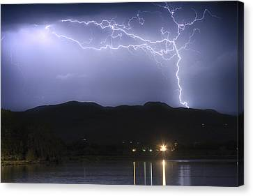Rocky Mountain Foothills Lightning Extravaganza Canvas Print by James BO  Insogna