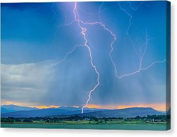 Rocky Mountain Foothills Lightning Strikes 2 Hdr Canvas Print by James BO  Insogna