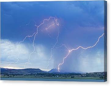 The Lightning Man Canvas Print - Rocky Mountain Foothills Lightning Strikes by James BO  Insogna