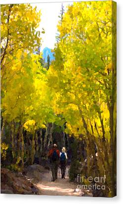 Rocky Mountain Hike Canvas Print