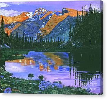 Rocky Mountain Lake Canvas Print by David Lloyd Glover
