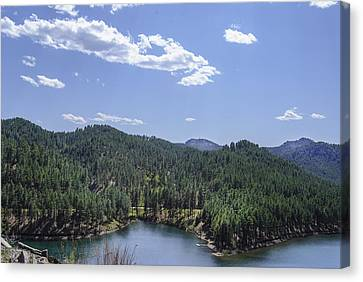 Rocky Mountain Lake Canvas Print