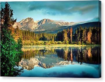 Fort Collins Canvas Print - Rocky Mountain Morning - Estes Park Colorado by Gregory Ballos