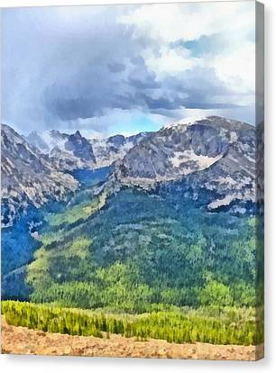 Rocky Mountain National Park Painting Canvas Print by Dan Sproul