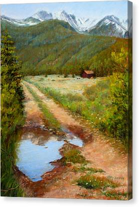 Rocky Mountain Reflections Canvas Print by Mary Giacomini