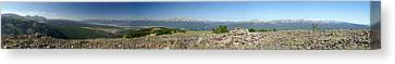 Rocky Mountain Rooftop Panoramic Canvas Print by Jeremy Rhoades