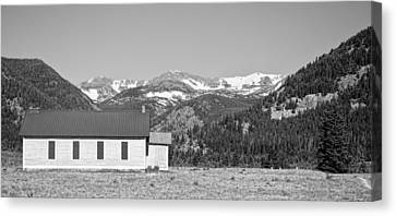 Rocky Mountain School House Panorama Canvas Print by James BO  Insogna