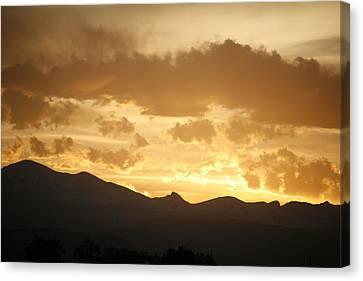 Rocky Mountain Sunset 2 Canvas Print