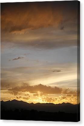 Rocky Mountain Sunset 3 Canvas Print