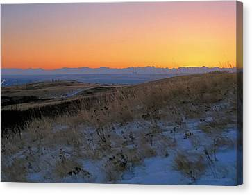 Rocky Mountain Sunset Canvas Print by Terry Reynoldson