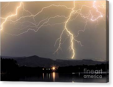 The Lightning Man Canvas Print - Rocky Mountain Thunderstorm  by James BO  Insogna