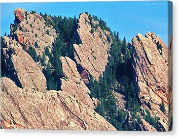 Rocky Mountain Towers Canvas Print by David Broome