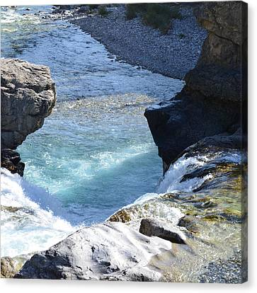 Elbow Falls Water  1.1 Canvas Print by Cheryl Miller