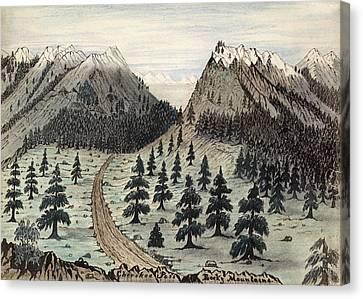 Rocky Mountains, 1859 Canvas Print
